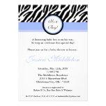 invitación azul clara de la fiesta de bienvenida a