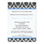 invitación azul clara de la fiesta de cumpleaños