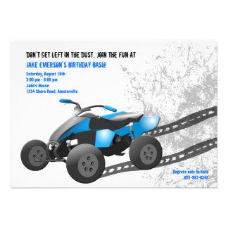 Invitación azul de ATV