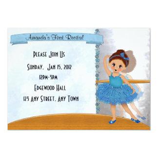 Invitación azul de la bailarina