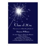 Invitación azul de la celebración de la graduación