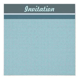 Invitación azul de la diana