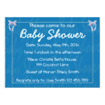 Invitación azul de la ducha del bebé del invitación 16,5 x 22,2 cm