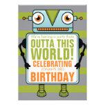 Invitación azul de la fiesta de cumpleaños de Chil