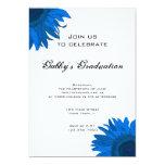 Invitación azul de la fiesta de graduación de la