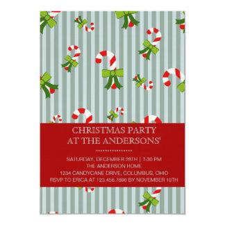 Invitación azul de la fiesta de Navidad de