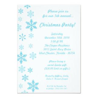 invitación azul de la fiesta de Navidad de los
