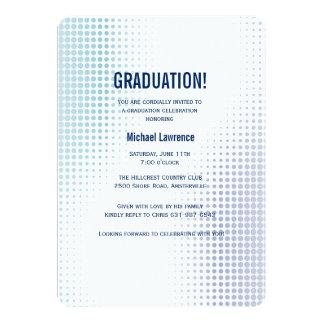 Invitación azul de la graduación de los tonos