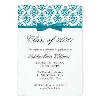 Invitación azul de la graduación del arco del