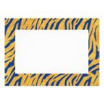 Invitación azul de la impresión del tigre