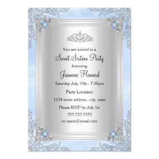 Invitación azul de la joya de la chispa y del