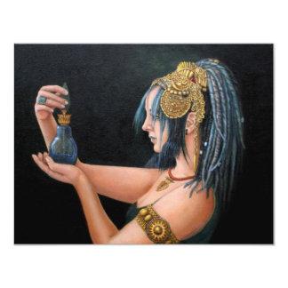 Invitación azul de la tribu invitación 10,8 x 13,9 cm