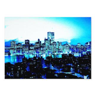 Invitación azul de New York City