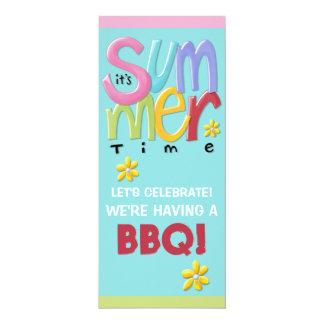 Invitación azul del Bbq del verano