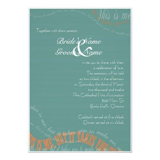Invitación azul del boda