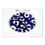 Invitación azul del boda de Pansie