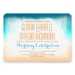 Invitación azul del boda de playa del ombre