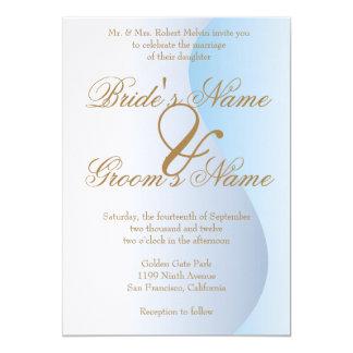 Invitación azul del boda del carnaval