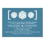 Invitación azul del boda del videojugador de los invitación 12,7 x 17,8 cm
