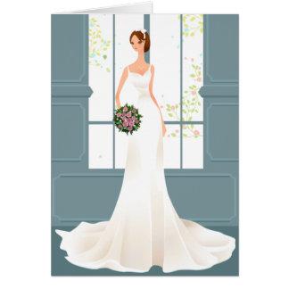 Invitación azul del boda tarjeta pequeña