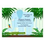 Invitación azul del cumpleaños de Childs del elefa