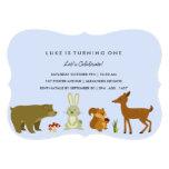 Invitación azul del cumpleaños de los amigos del