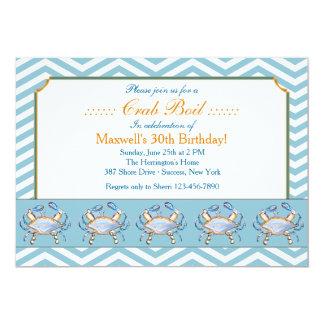 Invitación azul del desfile del gancho agarrador