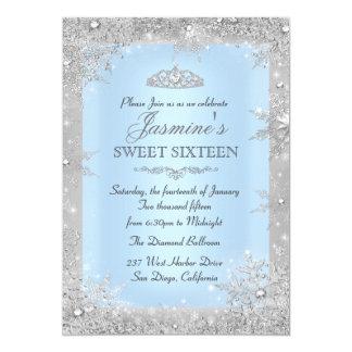 Invitación azul del dulce 16 del país de las
