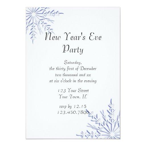 Invitación azul del fiesta de Noche Vieja del copo