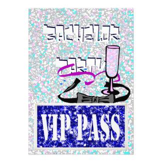 Invitación azul del fiesta del vip del soltero