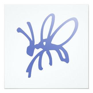 Invitación azul del insecto