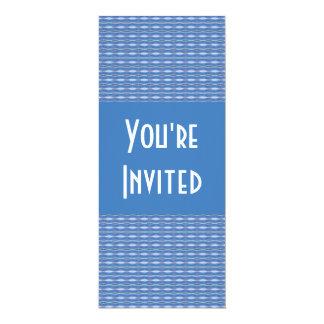 invitación azul del modelo
