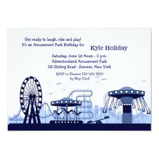 Invitación (azul) del parque de atracciones