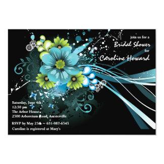Invitación azul del ramo