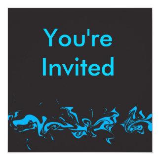 Invitación azul del remolino