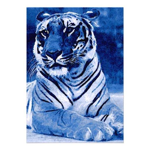 Invitación azul del tigre