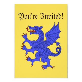 Invitación (azul) desenfrenada del dragón