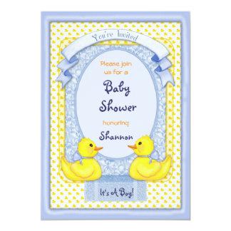 Invitación azul Ducky de goma de la ducha