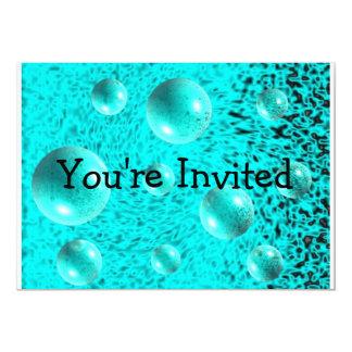 Invitación azul eléctrica de la burbuja