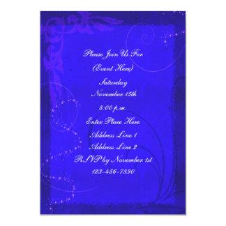 Invitación azul eléctrica del diseño del remolino
