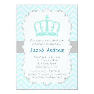 Invitación azul elegante de la fiesta de invitación 11,4 x 15,8 cm
