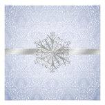 Invitación azul elegante del boda de la nieve del