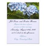 Invitación azul elegante del boda del Hydrangea
