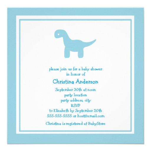 Invitación azul linda de la fiesta de bienvenida a
