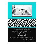 invitación azul negra del nacimiento de la FOTO de Invitación 12,7 X 17,8 Cm