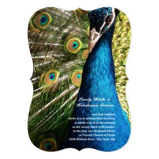 Invitación azul viva de lujo del boda de la