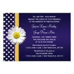 Invitación azul y amarilla del boda de la margarit