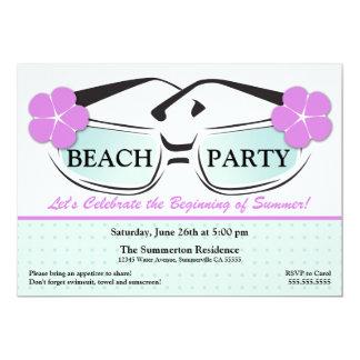 Invitación azul y púrpura fresca de las gafas de