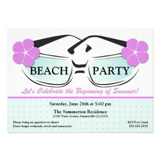 Invitación azul y púrpura fresca de las gafas de s
