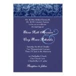 Invitación azul y púrpura R431 del boda del